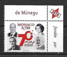 Monaco 2018 - Yv N° 3127 ** - 70e ANNIVERSAIRE DE LA CROIX-ROUGE MONEGASQUE - Neufs
