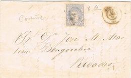 27823. Envuelta CORUÑA 1871, Alegoria A Rivadeo - Cartas
