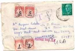 Carta Con Matasellos De 1975  Y Matasellos T Y Postage Due. - 1971-80 Storia Postale