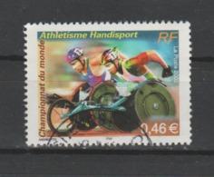 FRANCE / 2002 / Y&T N° 3495 : Championnats Handisport - 2ème Choix (1 Dent Courte à D) - Cachet Rond - France