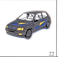 Pin's - Automobile - Renault Clio Compétition - Diac - Intérieur Blanc. Est. Arthus Bertrand. Zamac. T418-22. - Renault