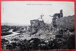 Cpa 55 DIEPPE SOUS DOUAUMONT Filleule De 76 DIEPPE Grande Rue Ruines - France