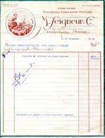 42.LOIRE.SAINT ETIENNE.IMPRIMERIE.TYPOGRAPHIE.LITHOGRAPHIE.M.SEIGNEUR & Cie 11 RUE DE LA REPUBLIQUE. - Imprimerie & Papeterie