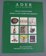 Catalogue De Vente Aux Enchères Armes Souvenirs Historiques - Cataloghi