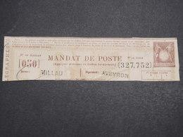 FRANCE - Fragment D' Un Mandat Au Type Sage De Millau - L 14761 - 1877-1920: Semi-Moderne
