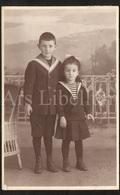 Photo Postcard / Foto / Photograph / Fille / Girl / Boy / Garçon / Photographer H. Wagner / Oerlikon / 1919 - Photographie