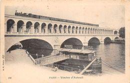 ¤¤  -   PARIS   -  Viaduc D'Auteuil   -  Train Passant Sur Le Pont  -  Chemin De Fer    -   ¤¤ - Arrondissement: 16