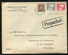 Cover Reykjavik 1934 To France With Paquebot - 1918-1944 Unabhängige Verwaltung