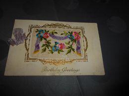 7177 -  Carte D'Anniversaire Brodée, Birthday Greetings, - Autres