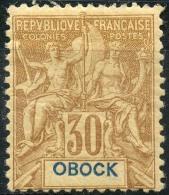 Obock (1892) N 40 * (charniere) - Unused Stamps