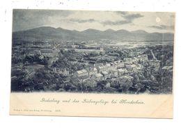 5300 BONN - BAD GODESBERG, Blick Auf Die Koblenzer Strasse Und Umgebung, Ca. 1905, Mondschein-Karte - Bonn