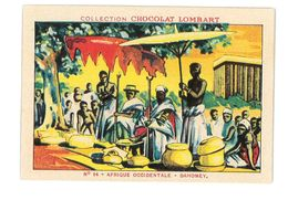 CHROMO IMAGE CHOCOLAT LOMBART N°64 DAHOMEY CHEFS FETICHEURS - Lombart