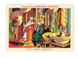 CHROMO IMAGE CHOCOLAT LOMBART N°39 TUNISIE MARCHAND - Lombart