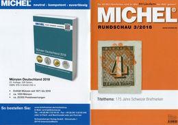 MICHEL Briefmarken Rundschau 3/2018 Neu 6€ Stamps Of The World Catalogue/magacine Of Germany ISBN 978-3-95402-600-5 - Tedesco