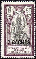 Inde - N°  60 * Dieu BRAMA *Surchargé 2 Ca Sur 5c Brun-lilas Et Noir - India (1892-1954)