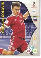 N° 292 - ALEKSANDR GOLOVIN  - WORLD CUP 2018 - RUSSIA - RUSSIE-CARTE PANINI ADRENALYN XL - Trading Cards