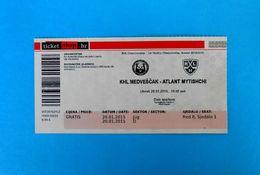 KHLMEDVESCAK : HC ATLANT MYTISHCHI Moscow Oblast Russia - 2015. KHL ICE HOCKEY LEAGUE Match Ticket Billet Eishockey - Match Tickets