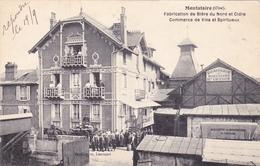 CPA PHOTO - 60 - MONTATAIRE - BRASSERIE Henri GRYSON CAMION Fabrication De Bière Du Nord Et Cidre - CARTE RARE - - Montataire
