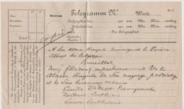 Telegramme D'Emile De Mot à SAR Monseigneur Le Prince Albert De Belgique De Juillet 1909 - Brrrrrrr - Historical Documents