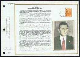 """COB N° 1928 Sur Document Soie Gd Format - Hommage à André RENARD - Oblit. : """" SERAING 15-12-1979 """". - Marcophilie"""