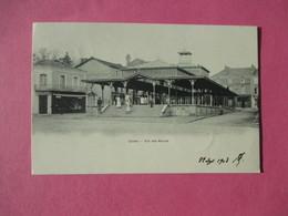 Cpa Precurseur CIVRAY Vue Des Halles En 1903 - Dos Non Séparé - Civray