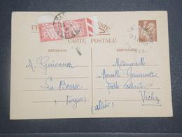 FRANCE - Taxes De Vichy Sur Entier Postal Type Iris De La Bresse En 1941 - L 14779 - Marcophilie (Lettres)