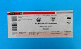 KHLMEDVESCAK : HC DINAMO RIGA Latvia - 2015. KHL ICE HOCKEY LEAGUE Match Ticket Billet Eishockey - Match Tickets