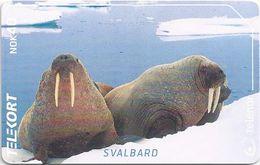 Svalbard - Telenor Norway - Sea Mammals Seals N-234A, 02-2002, 11.100ex, Used - Svalbard