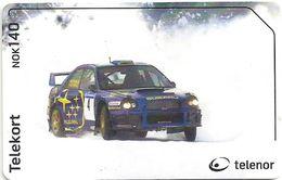 Norway - Telenor - Rally Subaru Car - N-259 - 02.2003, 100.000ex, Used - Noruega