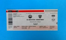 KHLMEDVESCAK : HC DINAMO MINSK Belarus - 2015. KHL ICE HOCKEY LEAGUE Match Ticket Billet Eishockey - Match Tickets