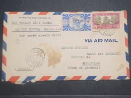 NOUVELLE CALÉDONIE - Enveloppe De Nouméa( Matelot Radio ) Pour Montauban En 1945 , Affranchissement Plaisant - L 14781 - Cartas