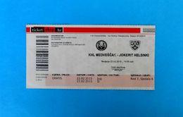 KHLMEDVESCAK : HC JOKERIT Helsinki Finland - 2015. KHL ICE HOCKEY LEAGUE Match Ticket Billet Eishockey - Match Tickets
