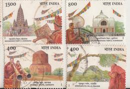 INDIA- 2002- BUDDHA MAHOTSAVA FESTIVAL- Complete Fine Used Set Of 4V- Religion- Buddhism- Gautama Buddha - Indien