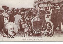 72 Sarthe Circuit De La Sarthe 1906 Repro Les Mutuelles Du Mans Jules Verne Voiture  De Grégoire 9B Au Pesage TBE - France