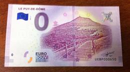 63 LE PUY DE DÔME ORCINES BILLET EURO SOUVENIR 2018 BANK NOTE EURO SCHEIN BANKNOTE PAPER MONEY - EURO