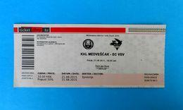 KHLMEDVESCAK : EC VSV Villacher Sportverein, Villach Austria - 2015. KHL ICE HOCKEY LEAGUE Match Ticket Billet Eishockey - Match Tickets