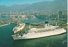 CPA-Vers 1980-83-TOULON- Les 2 FERRIES SNCM A QUAI-Le NAPOLEON Et Le PROVENCE -TBE - Ferries