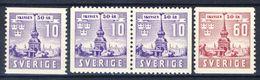 #Sweden 1941. Skansen. Michel 283-84 + PairD. MNH(**) - Suède