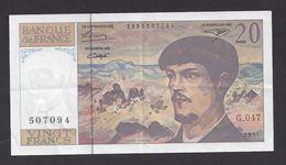 20 Francs  Debussy  1995 - 1962-1997 ''Francs''