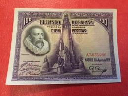 100PESETAS 1928=TTB - [ 1] …-1931 : First Banknotes (Banco De España)