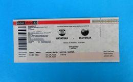 CROATIA : SLOVENIA - 2015. ICE HOCKEY Official Match Ticket * Billet Eishockey Hockey On Ice Slovenija - Match Tickets