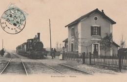 BREVIANDES - LA HALTE - SUPERBE CARTE ANIMEE - 2 SCANNS - - France