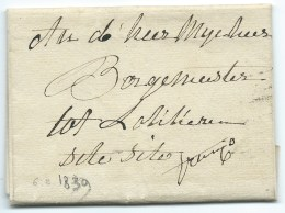 MP  BELGIQUE GAND POUR AAN DE HEER 1839 - 1830-1849 (Belgique Indépendante)