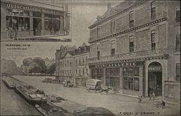 44 - NANTES - Quincaillerie Braud - Quai De L'Erdre - Carte Pub - Avis De Passage - Nantes