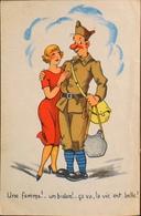 CPA - FRANCE - Une Femme ! Un Bidon!...- Daté 1946 - TBE - Humoristiques