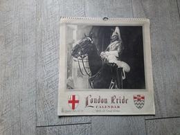 Calendrier Anglais 1952 London Pride Calendar Photos Of London Londres - Calendars