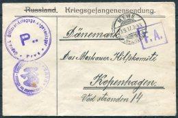 1917 POW Kriegsgefangenen Censor Cover - Copenhagen. Mewe - Germany