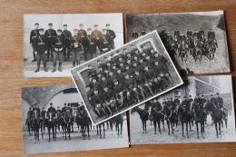 5 Cartes Photos Gendarme Gendarmerie  Vers 1930 - Police - Gendarmerie