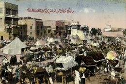 Saudi Arabia, MEDINA, Busy Hejaz Menaha Square, Camel Caravan (1910s) Postcard - Saudi Arabia