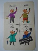 D157148 Small - Pocket Calendar  Hungary 1961 Szivárvány Áruház - Calendars